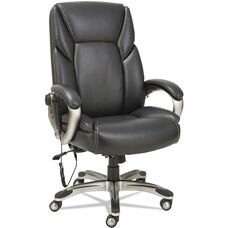 Alera® Shiatsu Massage Chair, Black, Silver Base