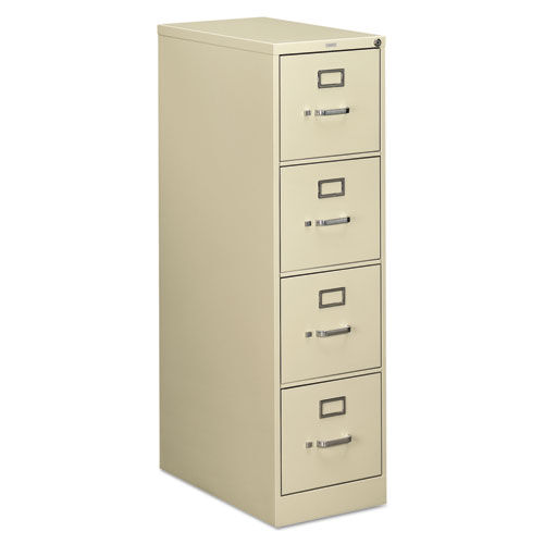 Our HON® 510 Series Four-Drawer - Full-Suspension File - Letter - 52h x25d - Putty is on sale now.