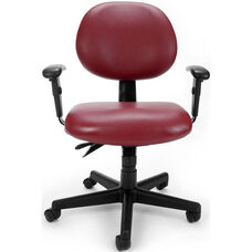 24 Hour Anti-Microbial and Anti-Bacterial Vinyl Task Chair with Arms - Wine