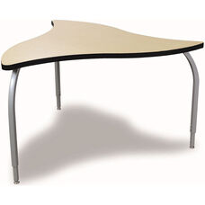 ELO Manta High Pressure Laminate Table with Adjustable Legs and 1.25