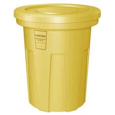 40 Gallon Cobra Food Grade/General Use Trash Can - Yellow
