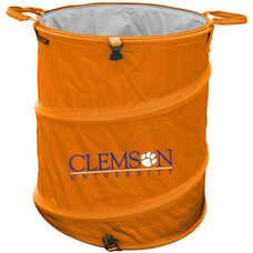 Clemson University Team Logo Collapsible 3-in-1 Cooler Hamper Wastebasket