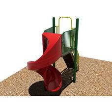 Powder Coat Paint Finished Steel Framed Spiral Slide with Safety Enhancing Closed Steps and Polyethylene Finished Slide - 72