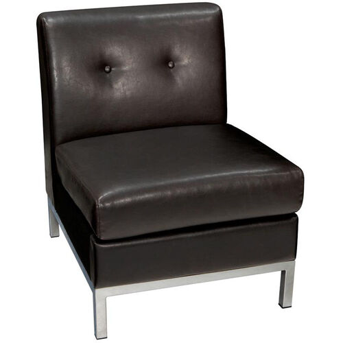 Our Ave Six Wall Street Faux Leather Armless Lounge Chair - Espresso is on sale now.