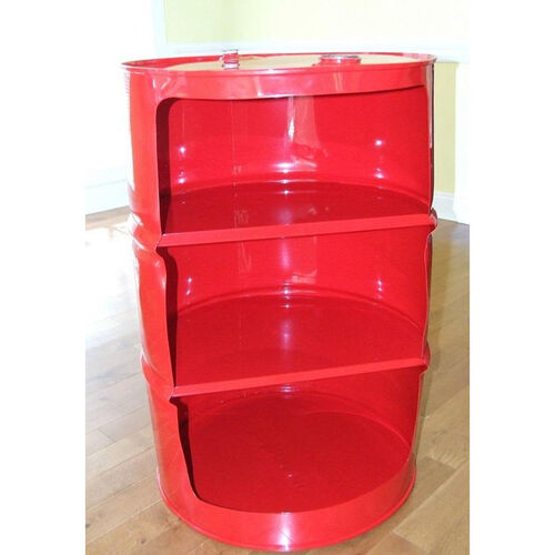 Our Red Drum Steel Drum Shelf Unit is on sale now.