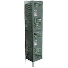 Competitor Series Quick Ship Double Tier Powder Coated Steel Ventilated Adder with Recessed Handle