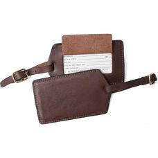 Luggage Tag - Top Grain Nappa Leather - Coco