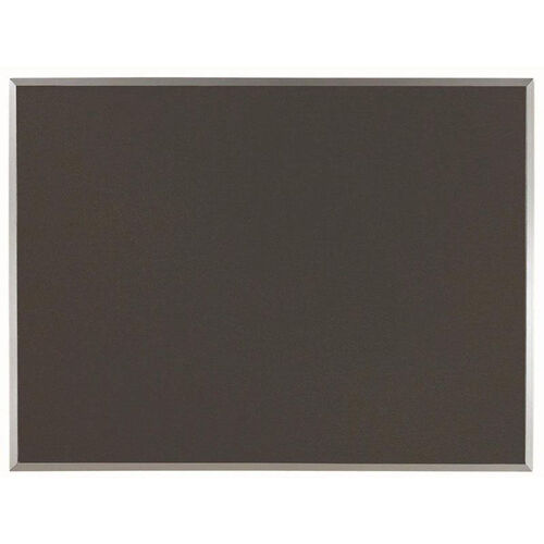 Our Designer Fabric Bulletin Board with Clear Satin Anodized Aluminum Frame - Black - 36