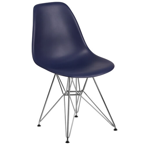 Our Elon Series Navy Plastic Chair with Chrome Base is on sale now.