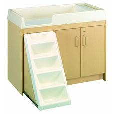 1000 Series 37.5''H Locking Cabinet Walk Up Toddler Changing Table - Assembled