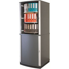 Moll 6 - Tier 2 LockFile Rotating Carousel Storage Cabinet - Gray