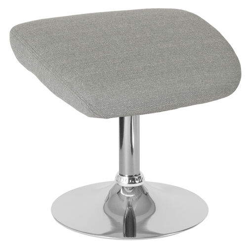 Our Egg Series Light Gray Fabric Ottoman is on sale now.