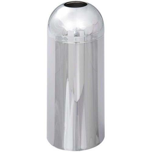 Our Reflections® 15 Gallon Open Top Indoor Dome Receptacle - Chrome is on sale now.