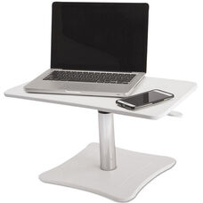 Victor® White Portable High Rise Adjustable Laptop Stand