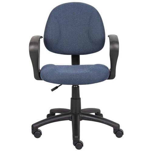 Our Deluxe Thick Padded Posture Chair with Lumbar Support and Loop Arms - Blue is on sale now.