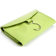 Hanging Travel Toiletry Bag - Full Grain Genuine Leather - Key Lime Green