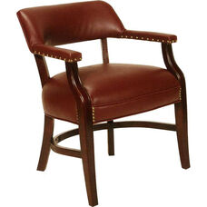 5100 Banker Chair with Nailhead Trim and Upholstered Back & Spring Seat - Grade 1