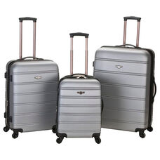 Rockland Melbourne 3 Pc. Abs Luggage Set - Silver