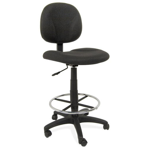 Our Ergo Pro Armless Drafting Chair with Height Adjustable Chrome Footring and Casters - Black is on sale now.