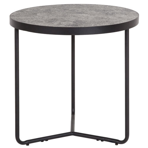 "Our Providence Collection 19.5"" Round End Table in Concrete Finish is on sale now."