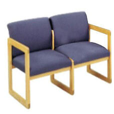 Classic Series Full Back 2 Seat Sofa with Sled Base