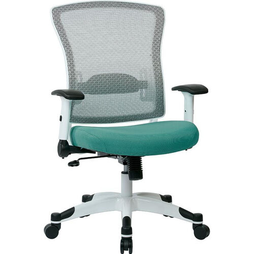 Our Space Pulsar Managers Office Chair with Fabric Padded Seat - Dove Jade with White Frame is on sale now.