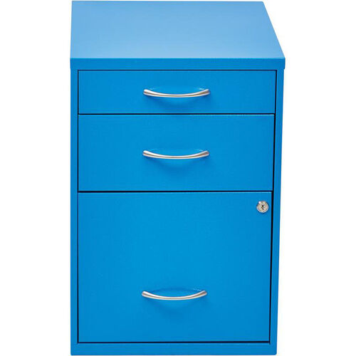 Our OSP Designs 3-Drawer Storage Cabinet with Locking Filing Drawer - Blue is on sale now.