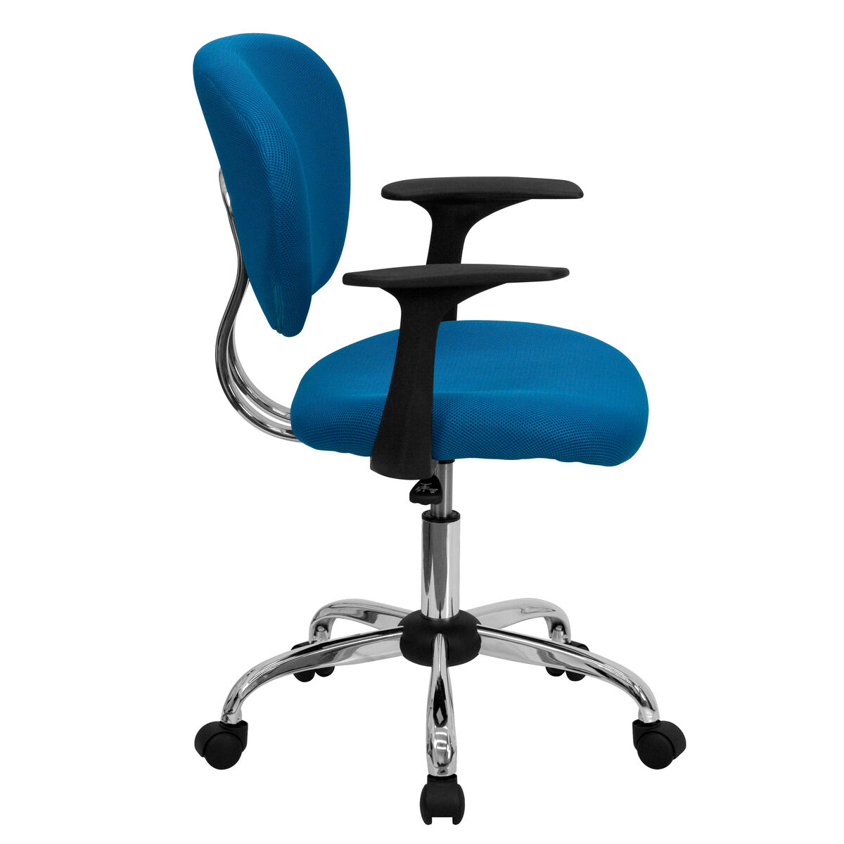 Turquoise Mid Back Task Chair H 2376 F Tur Arms Gg Bizchair Com