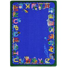 Kid Essentials Choo Choo Letters Nylon Rug with SoftFlex Backing - 92