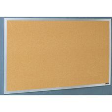 Quick Ship Aluminum Frame Tackboard - NuCork - 48