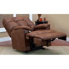 Space Saving Wall-A-Way Reclining Power Lift Chair with Extra Storage and Fold Out Table - Stampede Tanner Fabric