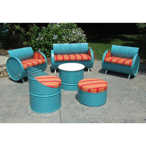 Our Santa Fe Steel Drum 6 Piece Conversation Set with Multicolor Accents is on sale now.