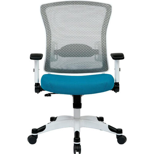 Space Pulsar Managers Office Chair with Mesh Padded Seat with White Frame