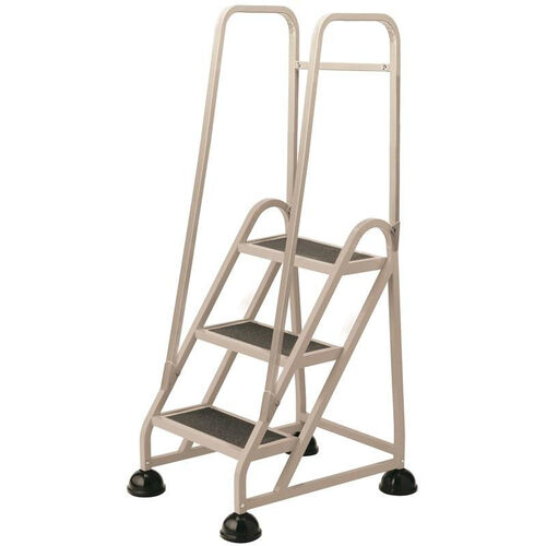 Stop Step 3 Step Ladder with Double Handrail - Beige