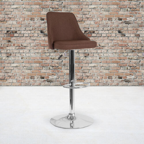 Our Trieste Contemporary Adjustable Height Barstool in Brown Fabric is on sale now.