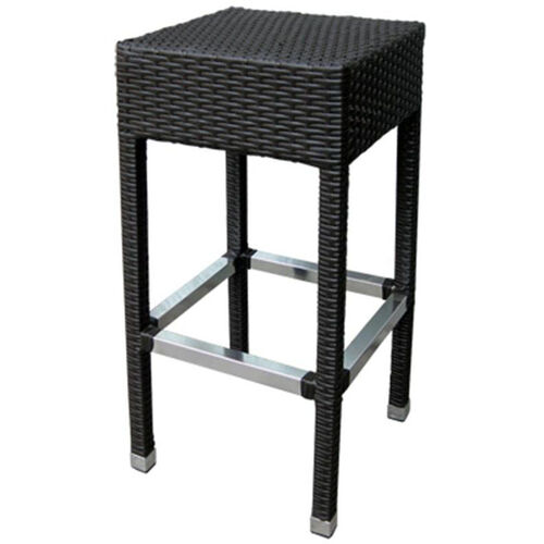 Our Gama Outdoor Weave Series Backless Barstool - Chocolate is on sale now.