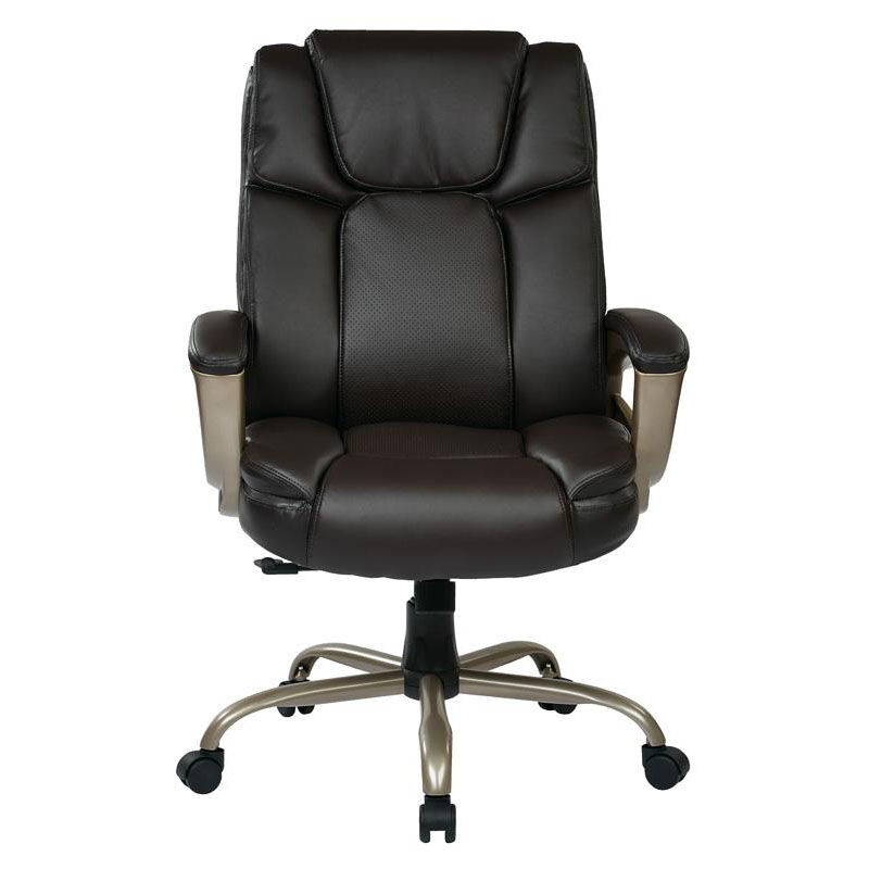 ... Our Work Smart Executive Big Manu0027s Eco Leather Chair With 350 Lb Weight  Capacity   Espresso