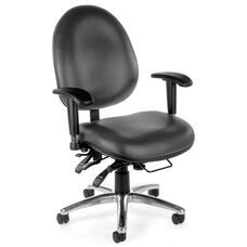24 Hour Big & Tall Anti-Microbial and Anti-Bacterial Vinyl Task Chair - Charcoal
