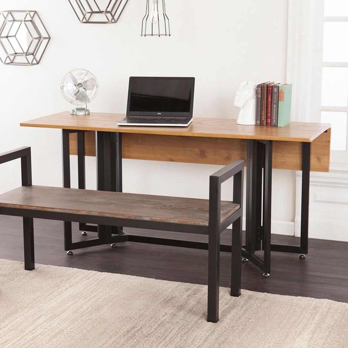 Holly and martin driness contemporary drop leaf 63 39 39 w x 29 for Pull down kitchen table