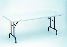 RX-Series Blow-Molded Tamper Resistant Rectangular Folding Table - 30