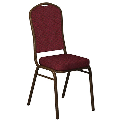 Embroidered Crown Back Banquet Chair in Praise Fabric - Gold Vein Frame