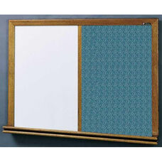 210 Series Wood Frame Combo Markerboard and Tackboard - Designer Fabric - 72