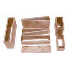 Natural Wood Finished Hollow Block Set