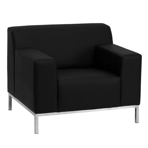 Our HERCULES Definity Series Contemporary Black Leather Chair with Stainless Steel Frame is on sale now.