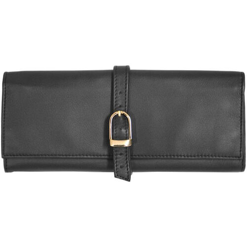 Our Jewelry Roll - Top Grain Nappa Leather - Black is on sale now.