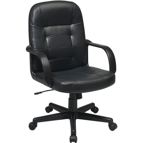 Our Work Smart Mid Back Eco Leather Managers Office Chair - Black is on sale now.