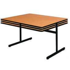 Square Table w/Height Adjustable Pedestal Base