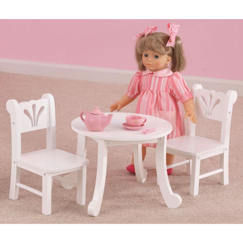 Lil Doll Wooden Table and Two Chair Set for up to 19