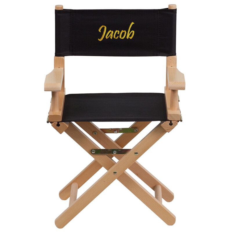 ... Our Embroidered Kid Size Directors Chair In Black Is On Sale Now.