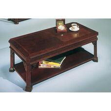 Governors Cocktail Table - Engraved Executive Mahogany